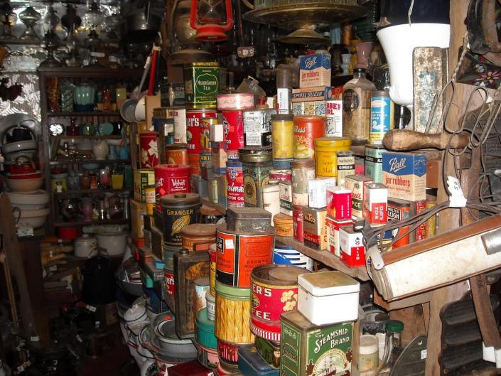 We have a large inventory of old cans, containers, tins and more. Enjoy a blast from the past when you search for antique collectibles at Ames Greenhouse Floral & Antiques!