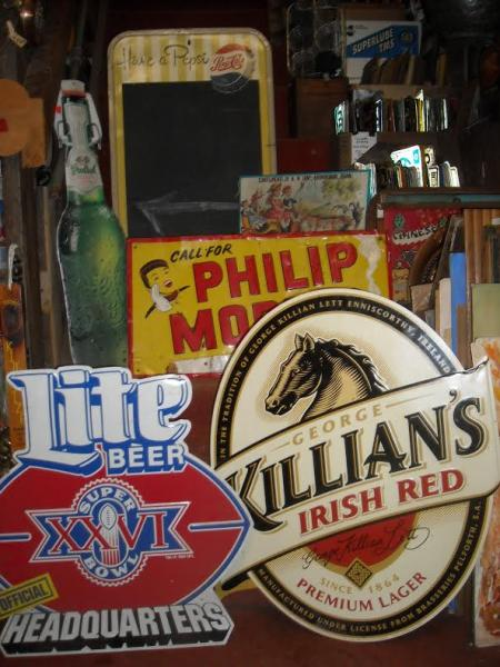 Need some decor for your man cave or den? We have a variety of antique signs, beer signs, and more that would make a great addition or even as a gift for the collector!